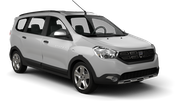 HERTZ Car hire Le Port Van car - Dacia Lodgy