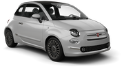 EUROPCAR Car hire Waren Convertible car - Fiat 500 Convertible