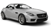 SIXT Car hire Waren Convertible car - Mercedes SLK Convertible