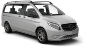 EUROPCAR Car hire Waren Van car - Mercedes Vito Traveliner