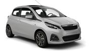 BUDGET Car hire Sainte Marie - Downtown Mini car - Peugeot 108