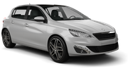 BUDGET Car hire Le Port Compact car - Peugeot 308