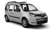 ALAMO Car hire Le Port Van car - Renault Kangoo