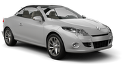 BUDGET Car hire Limassol City Convertible car - Renault Megane Convertible