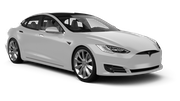 SIXT Car hire Kristiansand - Airport - Kjevik Fullsize car - Tesla Model S