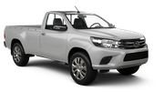 BUDGET Car hire Reykjavik - Keflavik International Airport Van car - Toyota Hilux